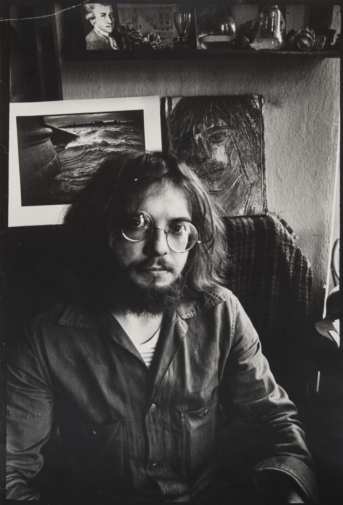 Борис Смелов.    Автопортрет   Ленинград, 1979