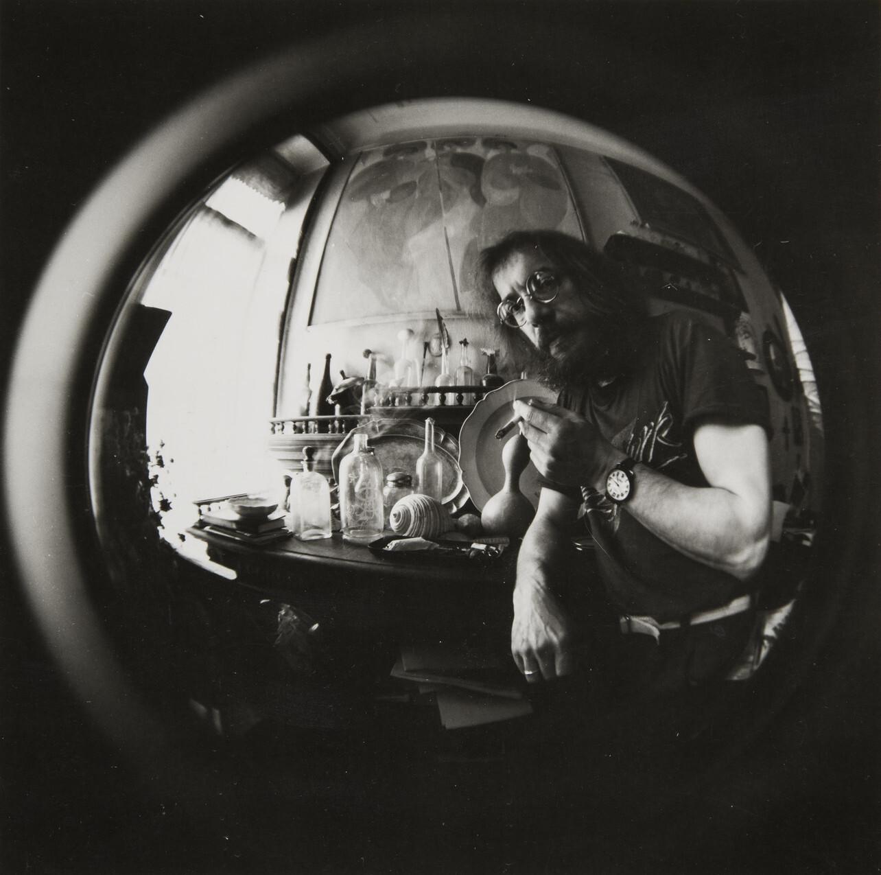 Борис Смелов.    Автопортрет   Ленинград, 1991