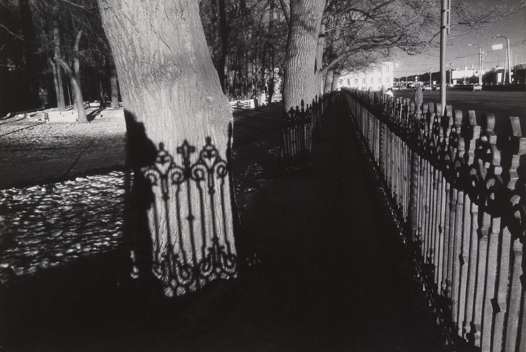 Борис Смелов.      Румянцевский сад   Ленинград, 1985