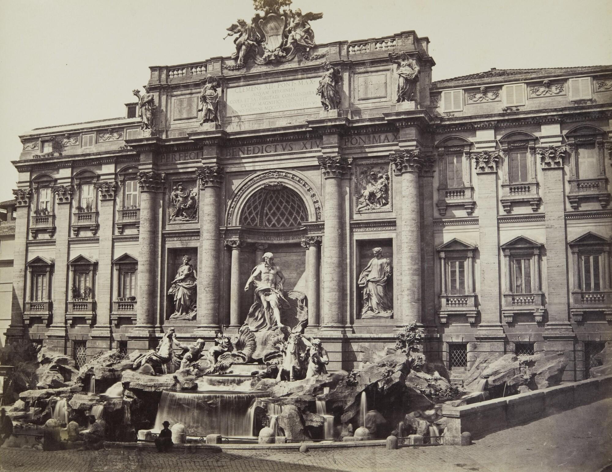 Альтобелли и Молинс.    Фонтан Треви, 1860–1870‑е   Альбуминовый отпечаток
