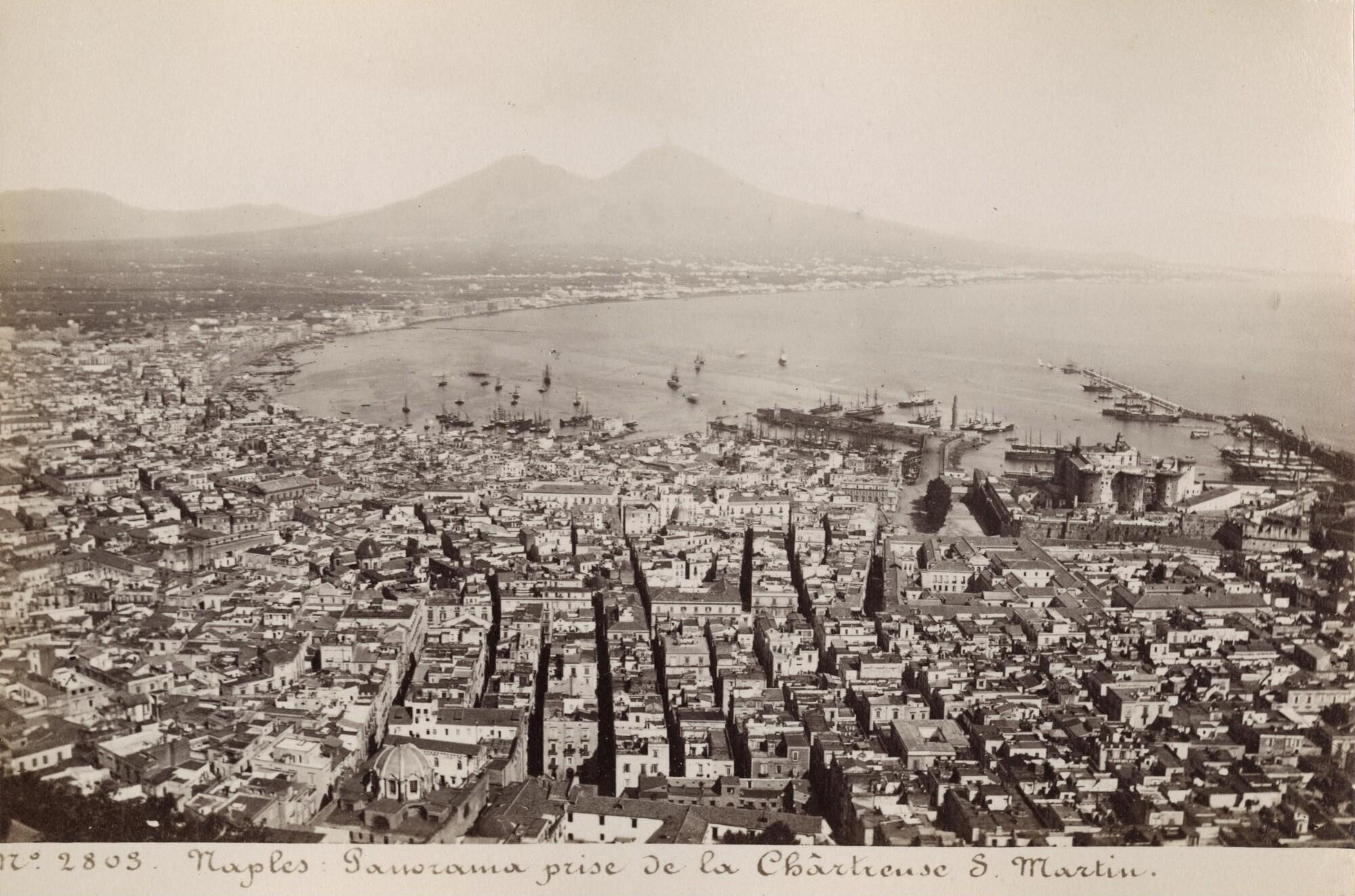 Неизвестный автор.    Панорама Неаполя, 1880‑е   Альбуминовый отпечаток