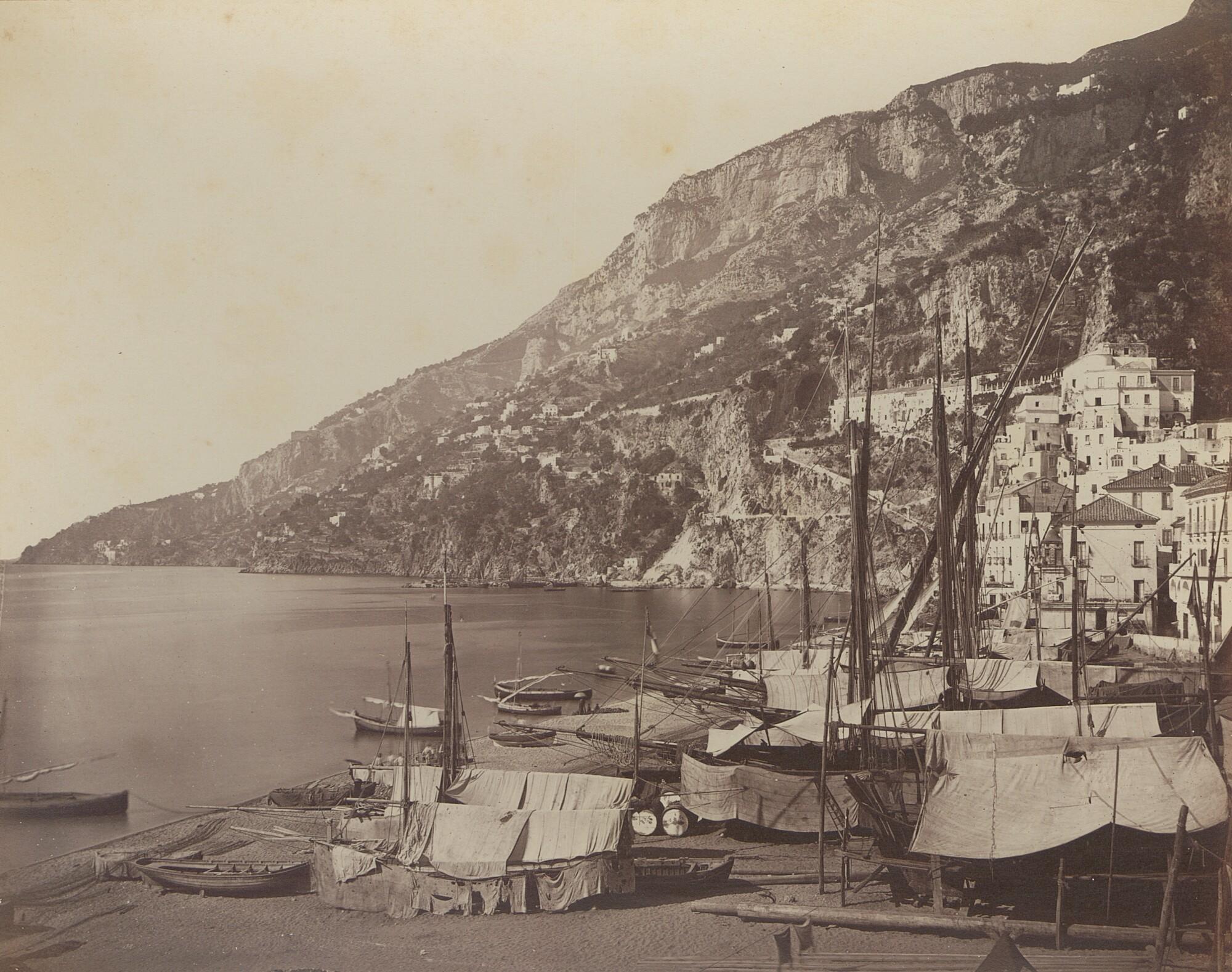 Джорджо Зоммер.    Амальфи, 1870‑е   Альбуминовый отпечаток