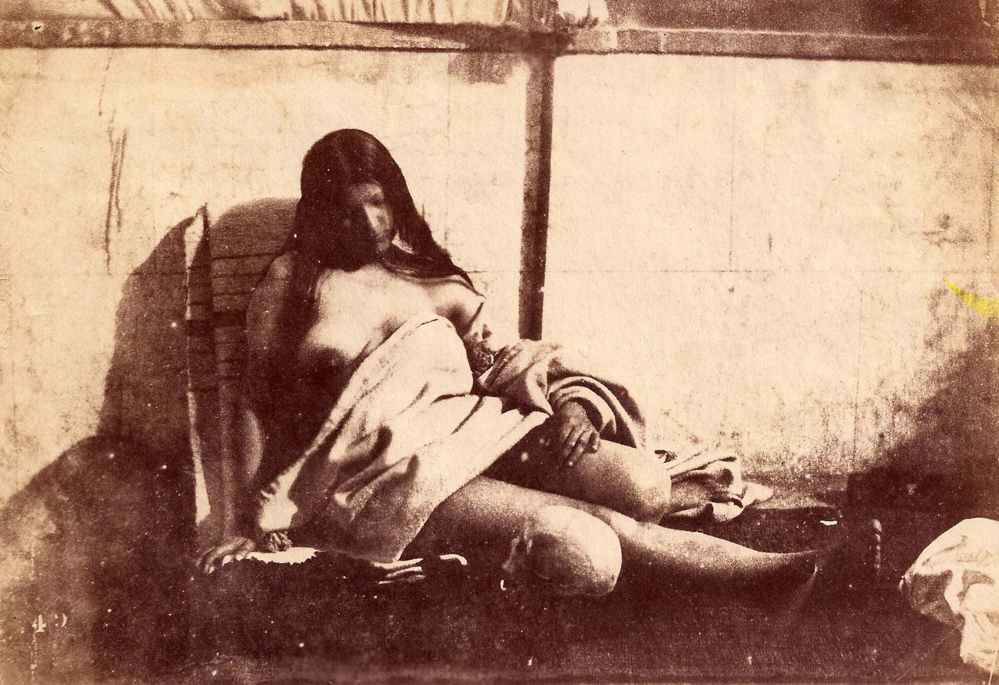 Джакомо Канева.    Этюд, 1850   Альбуминовый отпечаток