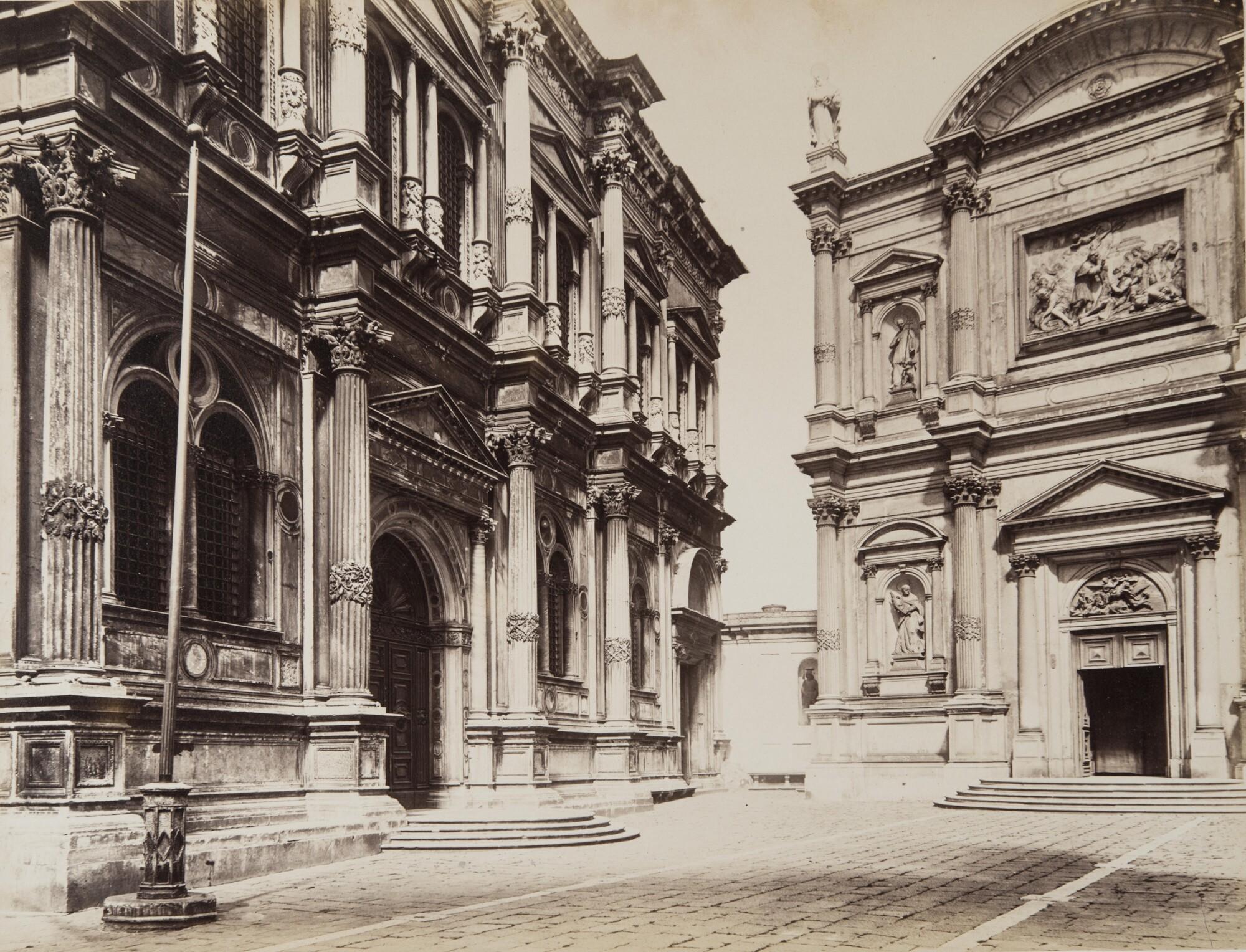 Карло Найя.    Церковь и скуола Сан-Рокко, 1874   Альбуминовый отпечаток