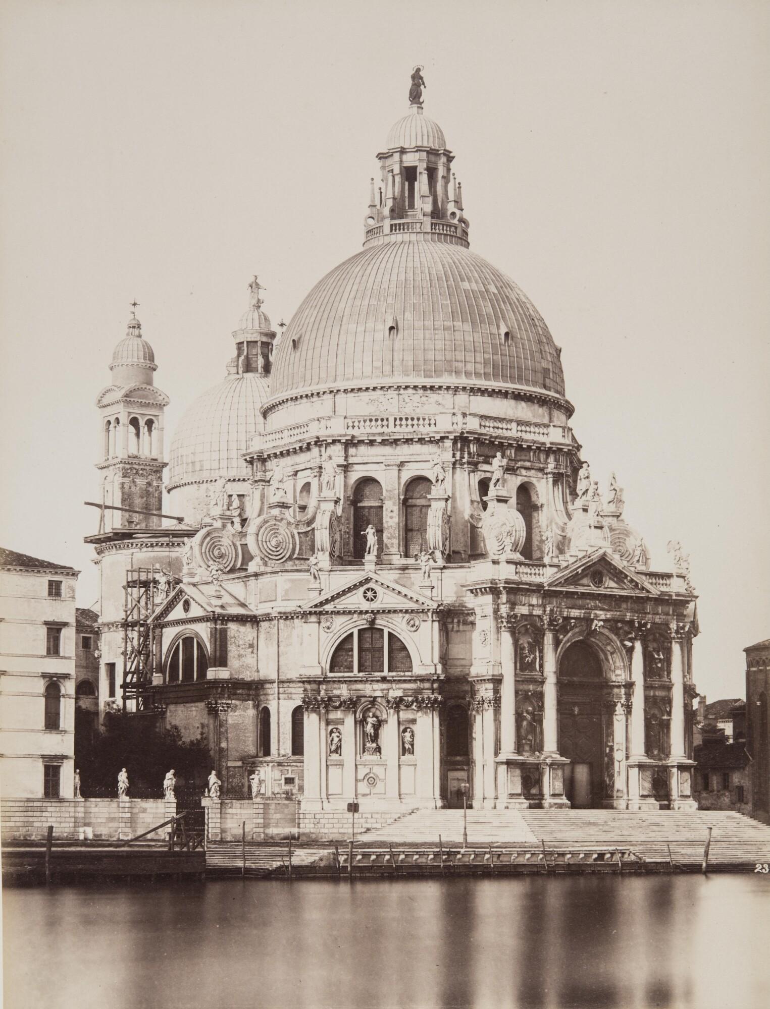 Карло Найя.    Собор Санта-Мария-делла-Салюте,1876   Альбуминовый отпечаток