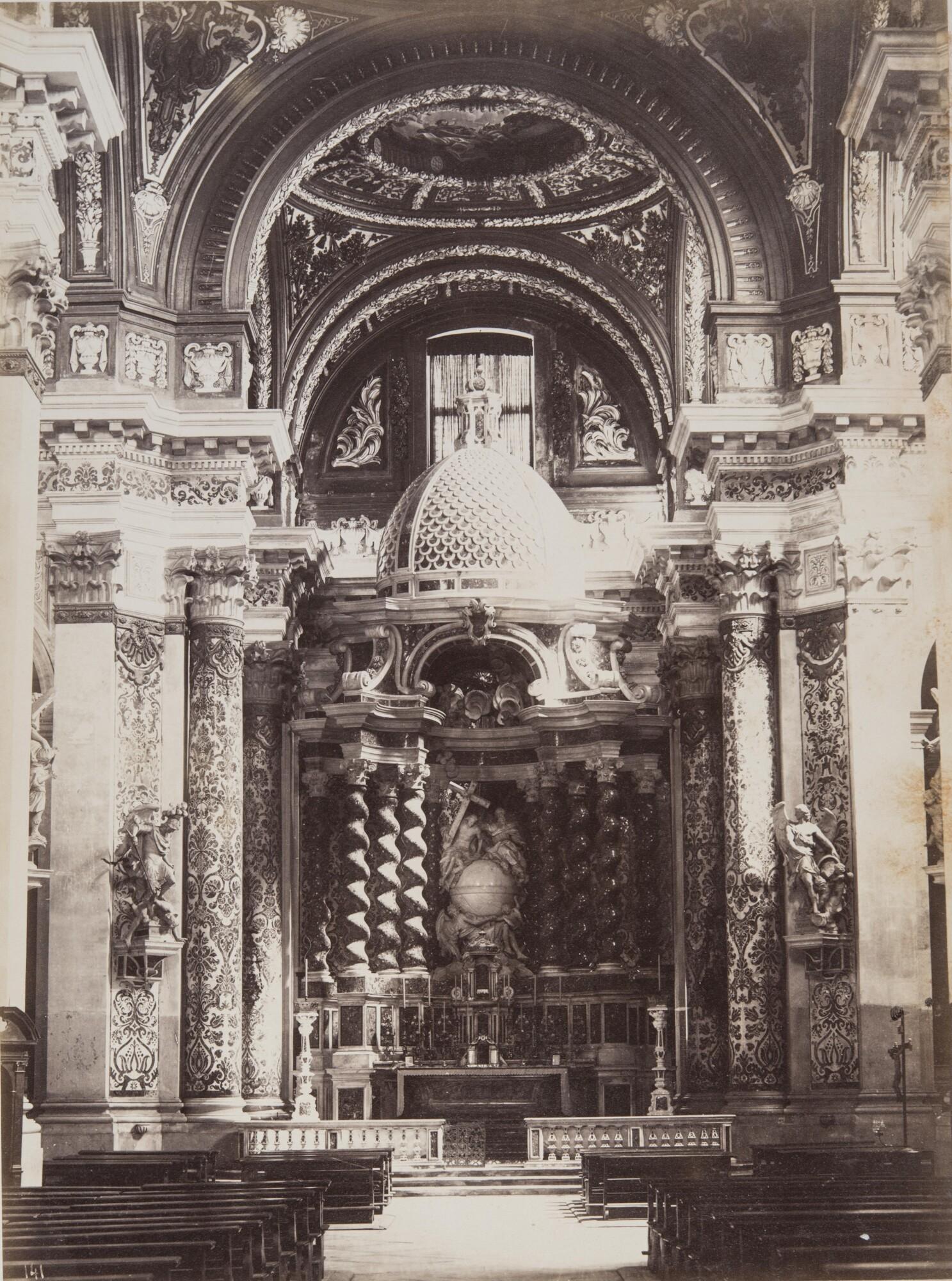Карло Найя.    Алтарь церкви Джезуити, 1874   Альбуминовый отпечаток