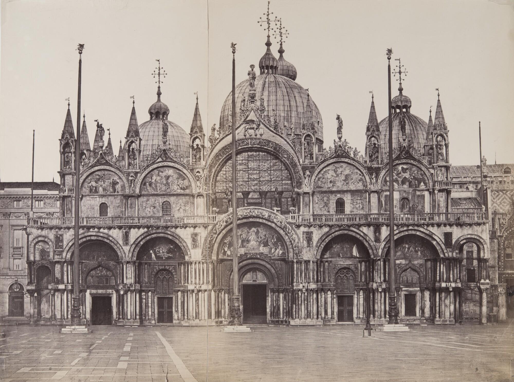 Карло Понти.    Собор Святого Марка,1860‑е   Альбуминовый отпечаток