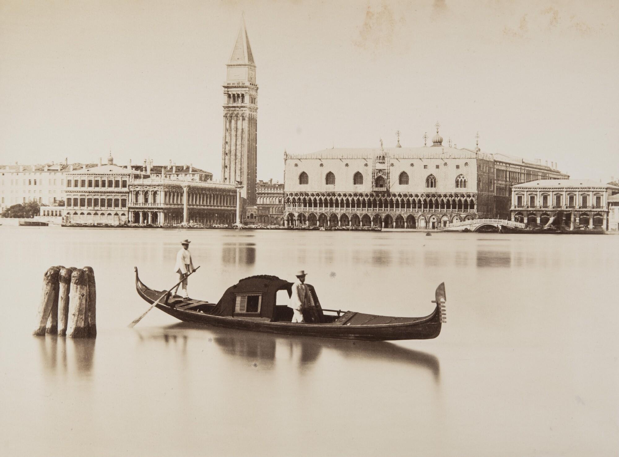 Карло Найя.  Вид на площадь Сан Марко, снятый с острова Сан Джорджо Маджоре,1876 Альбуминовый отпечаток