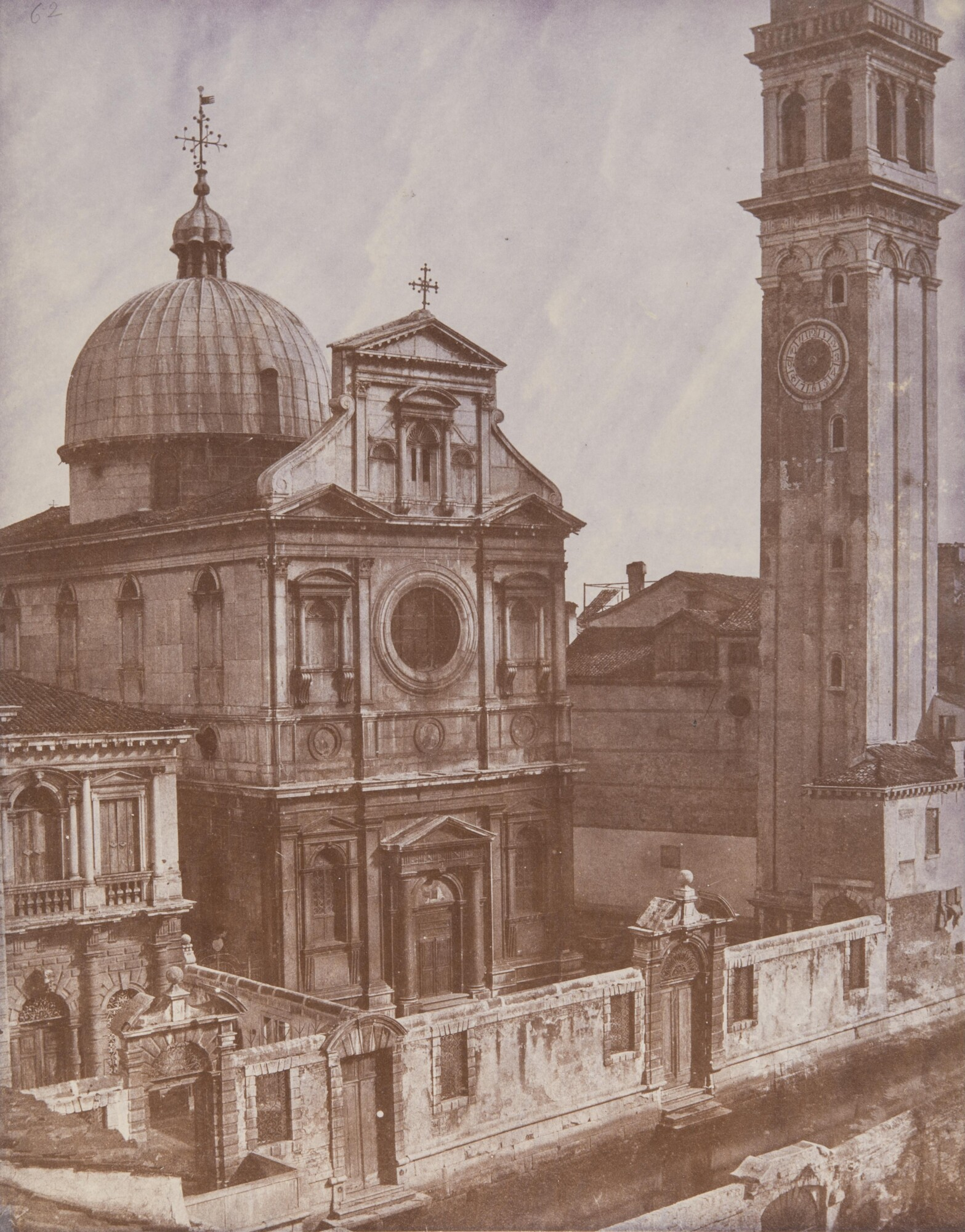 Доменико Бресолин.    Церковь Сан-Джорджо-деи-Гречи, 1855   Альбуминовый отпечаток