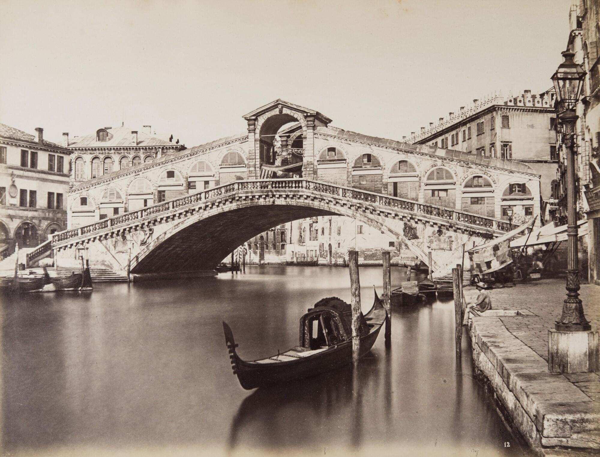 Карло Найя.    Мост Риальто, 1876   Альбуминовый отпечаток