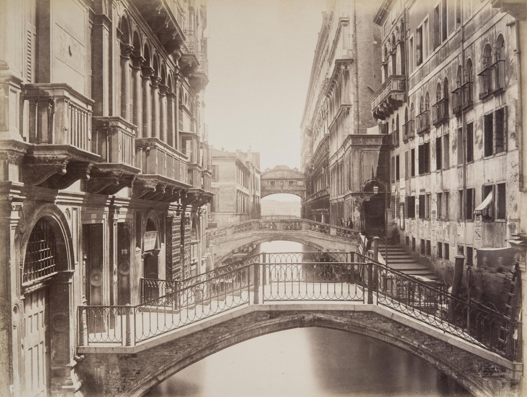 Карло Найя.  Вид на мост Вздохов,1876 Альбуминовый отпечаток