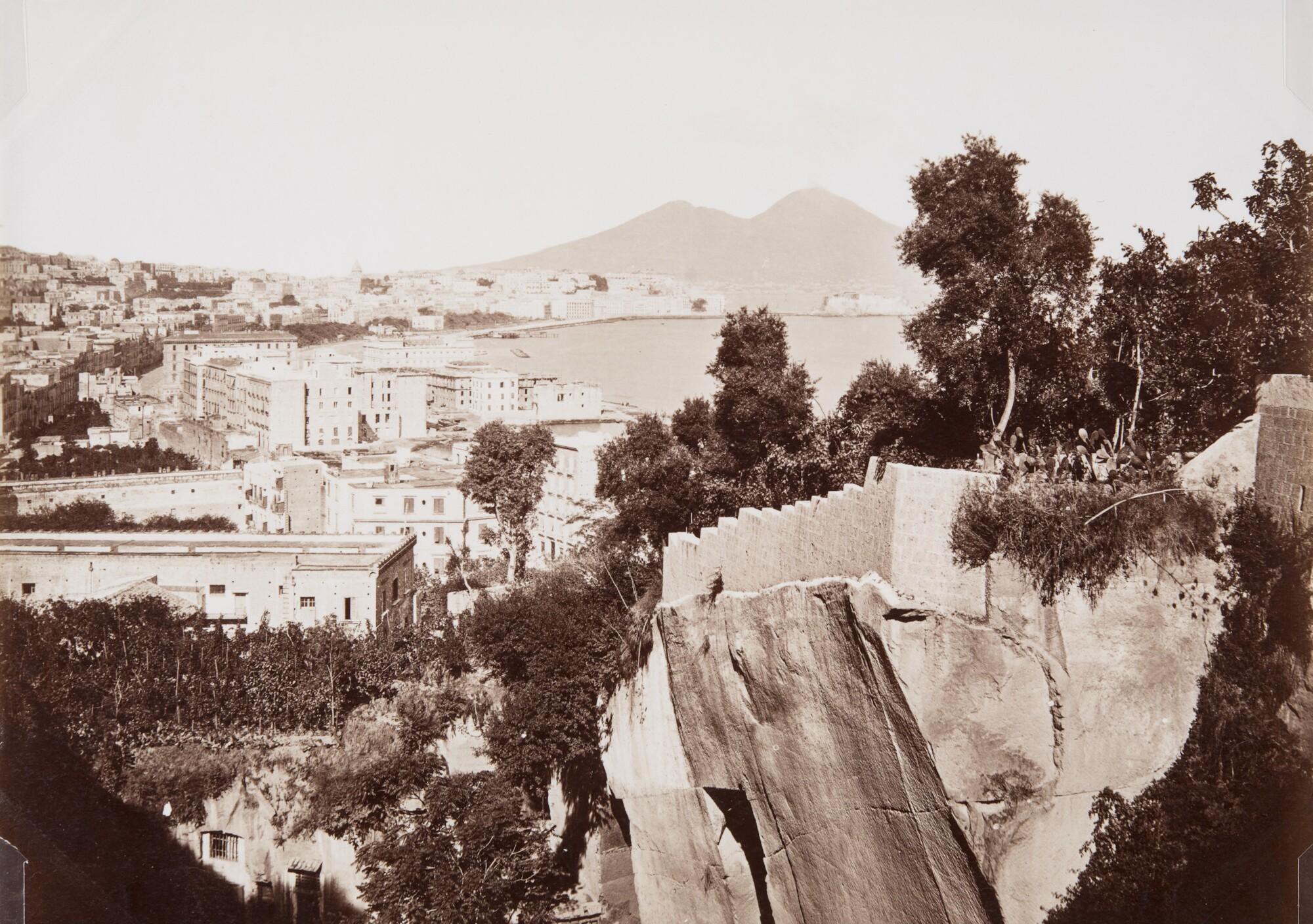 Неизвестный автор.    Панорама Позиллипо,1870‑е   Альбуминовый отпечаток