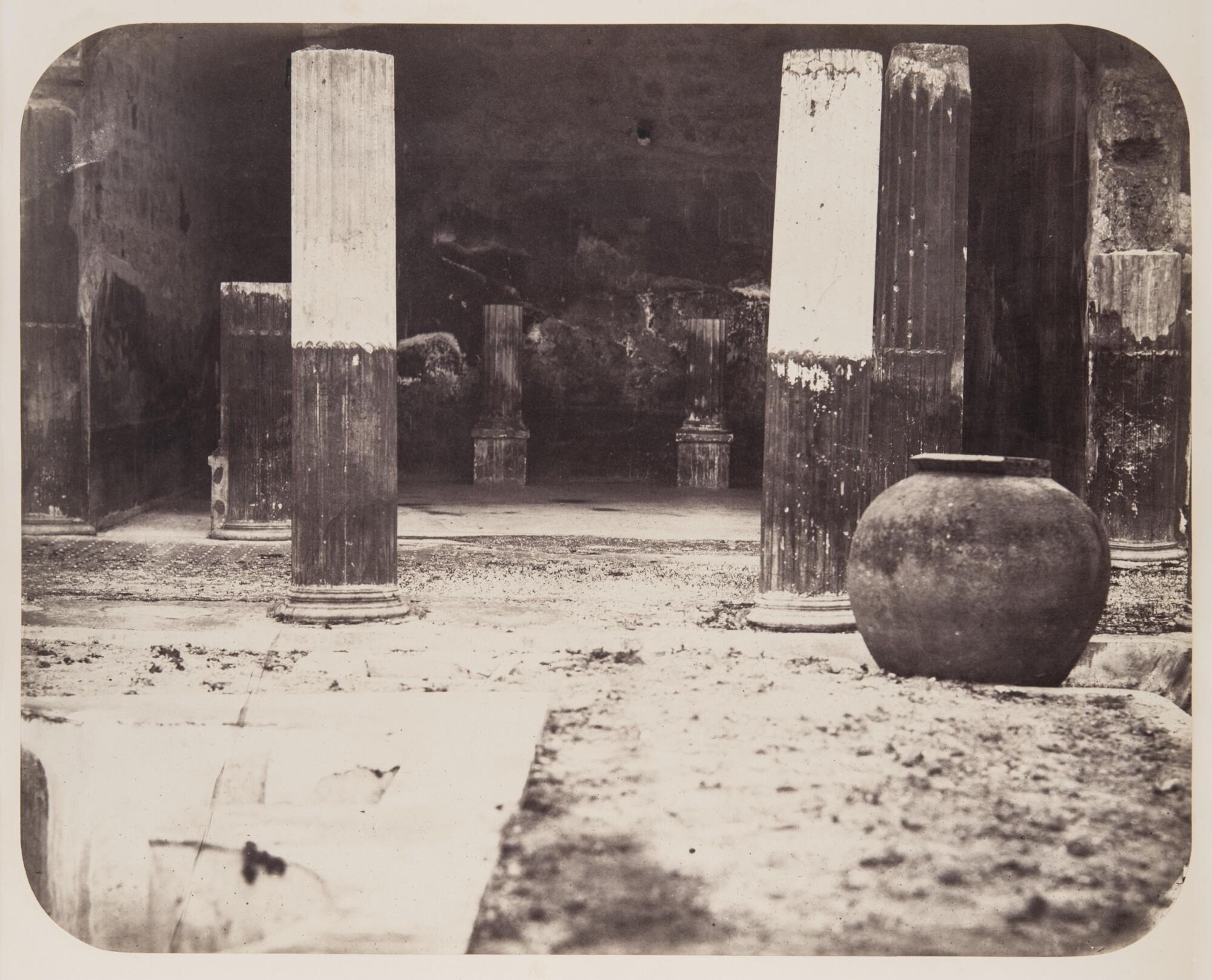 Гавриил Рюмин.    Дом Диоскуров. Помпеи, 1859   Альбуминовый отпечаток