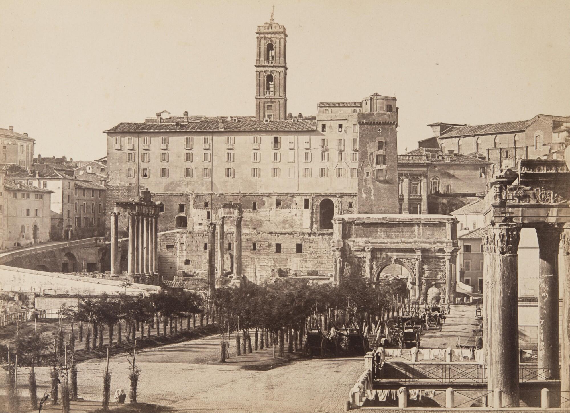 Томмазо Куччони.  Римский форум,1850‑е Альбуминовый отпечаток