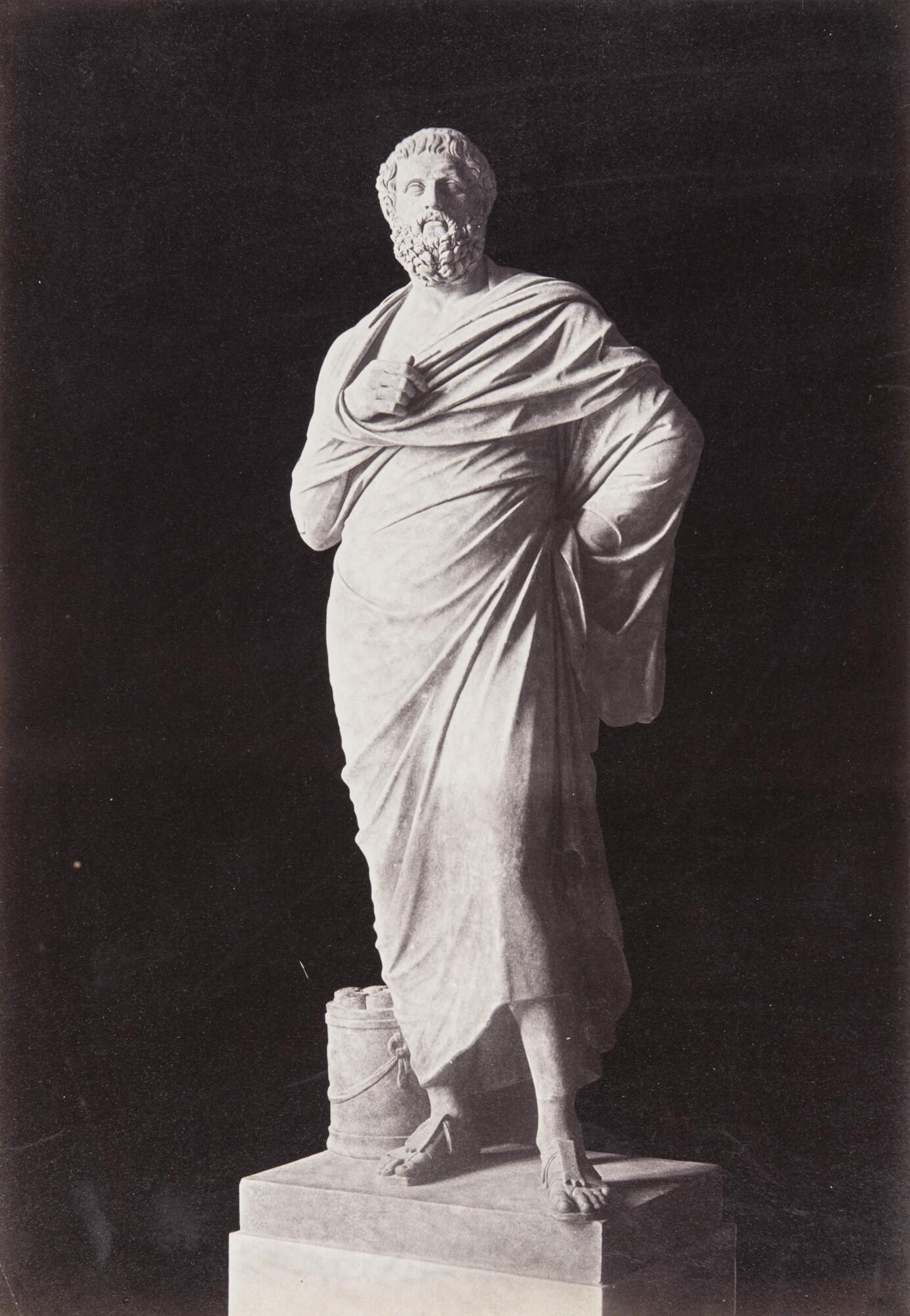 Роберт Тернбулл Макферсон.    Софокл. Палаццо дель Латерано,1860‑е   Альбуминовый отпечаток