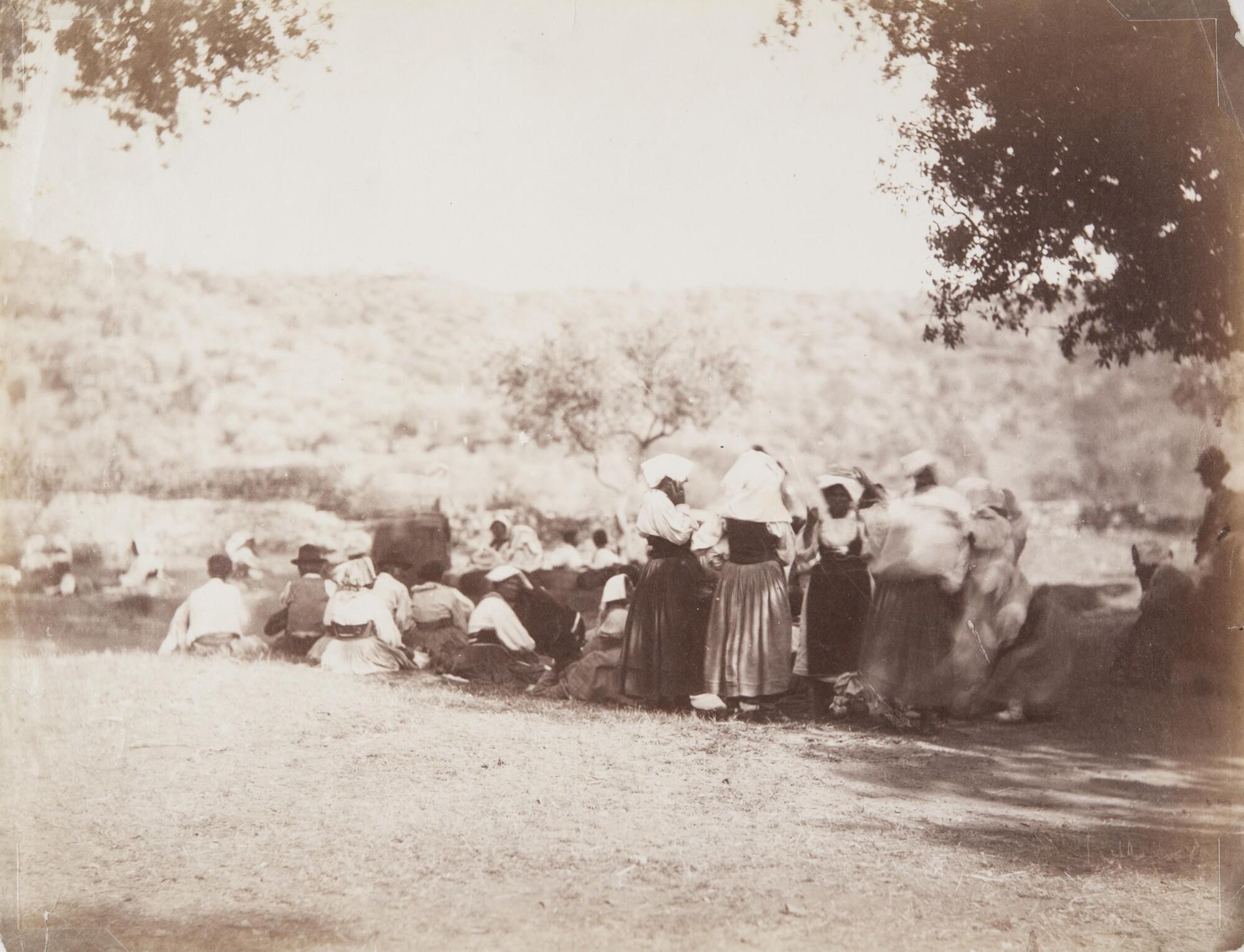 Филиппо Белли.  Римские прачки у источника,1872 Альбуминовый отпечаток