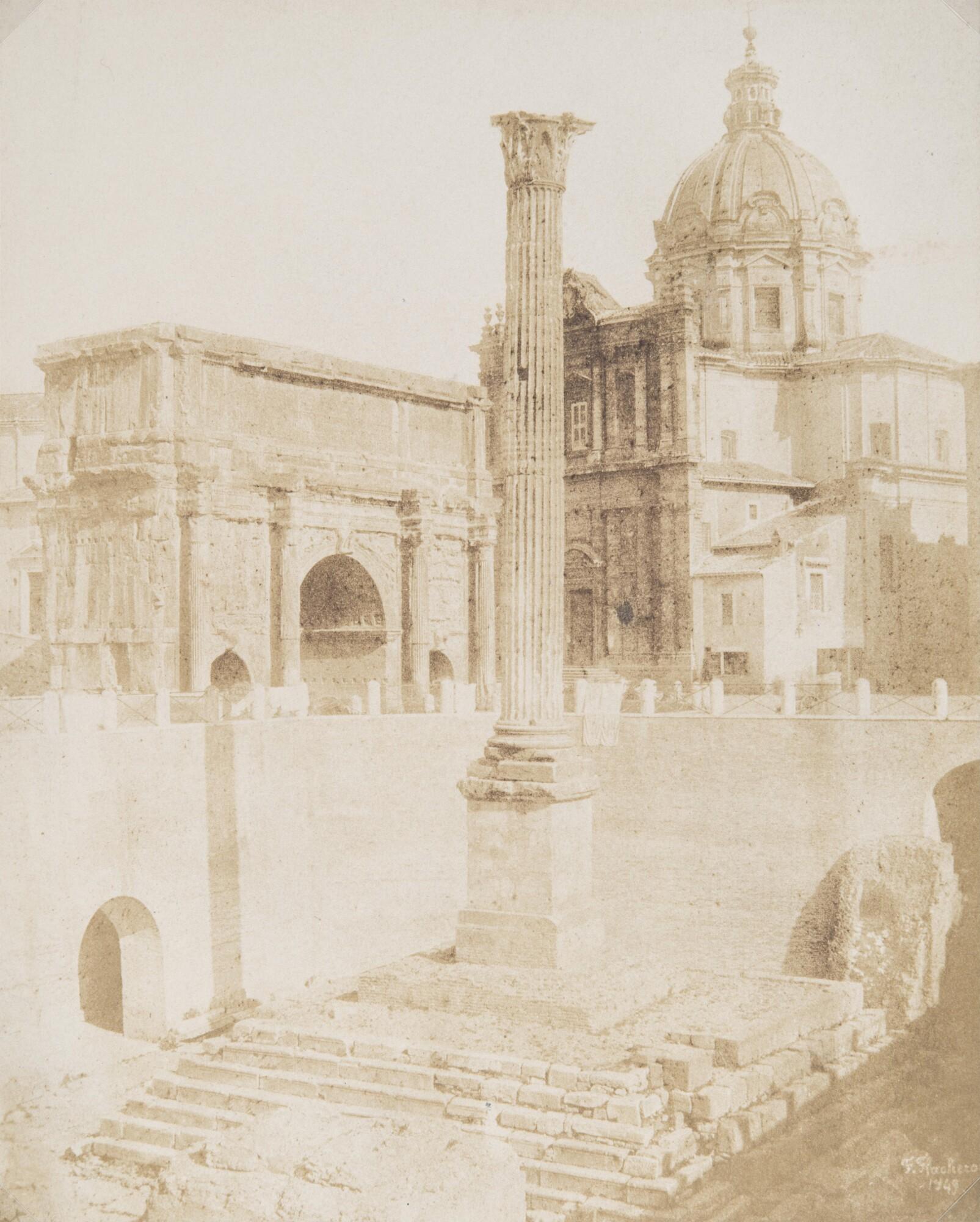 Фредерик Флашерон.  Римский форум,1849 Отпечаток на соленой бумаге