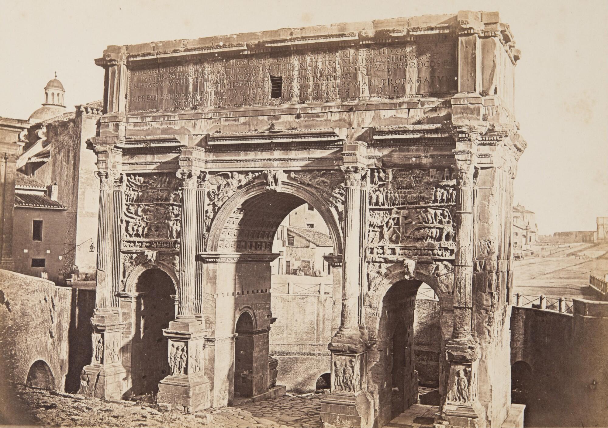 Томмазо Куччони.    Арка Септимия Севера. Римский форум, 1860‑е   Альбуминовый отпечаток