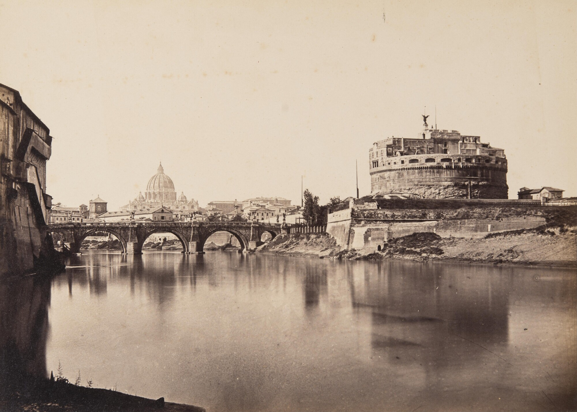 Томмазо Куччони.    Мост Святого Ангела и замок Святого Ангела,1860‑е   Альбуминовый отпечаток