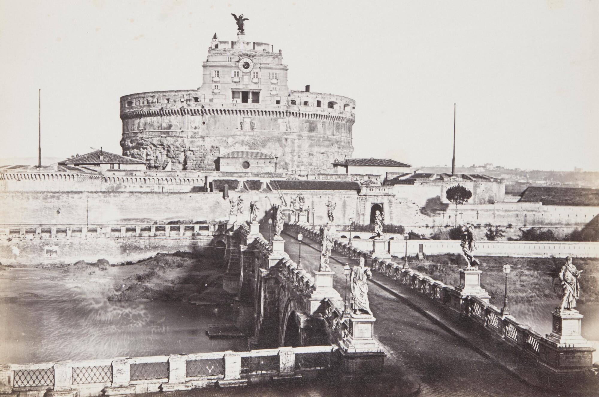Джузеппе Нинчи.  Мост и замок Святого Ангела,1860‑е Альбуминовый отпечаток