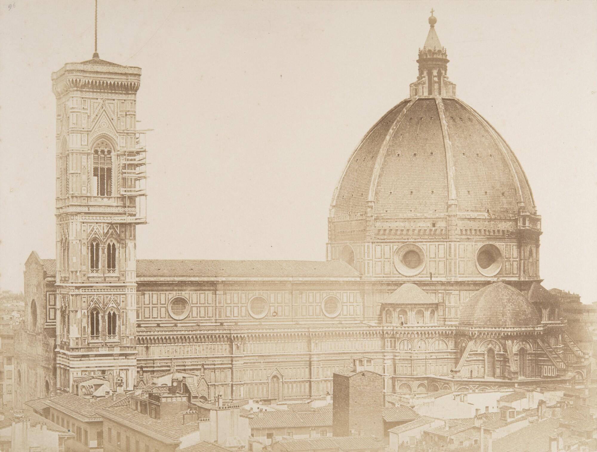 Алинари.    Собор Санта-Мария дель Фьоре, 1855   Отпечаток на соленой бумаге