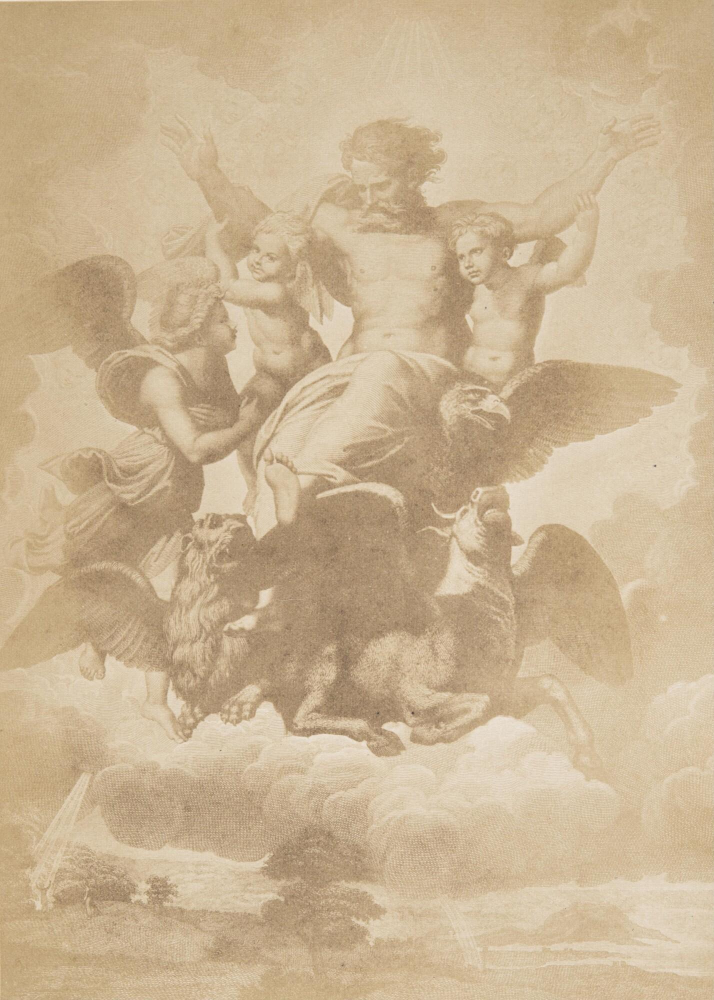 Джованни Брэмптон Филпот.    Рафаэль Санти«Видение пророка Иезекииля». Палаццо Питти, 1865   Альбуминовый отпечаток