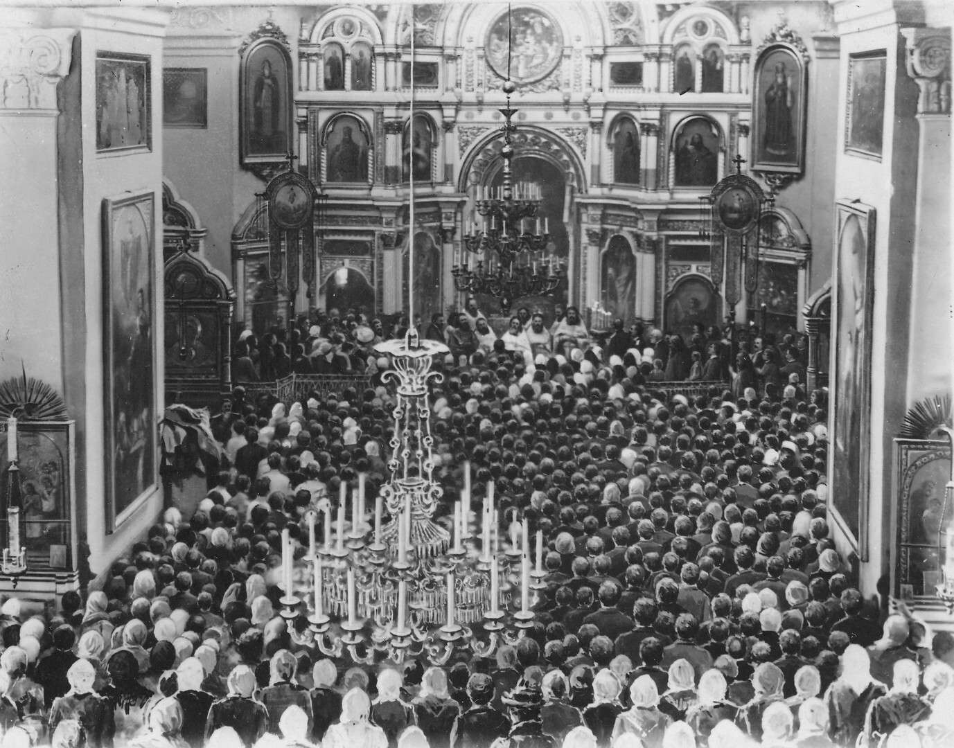 На проповеди о.Иоанна Кронштадтского в соборе