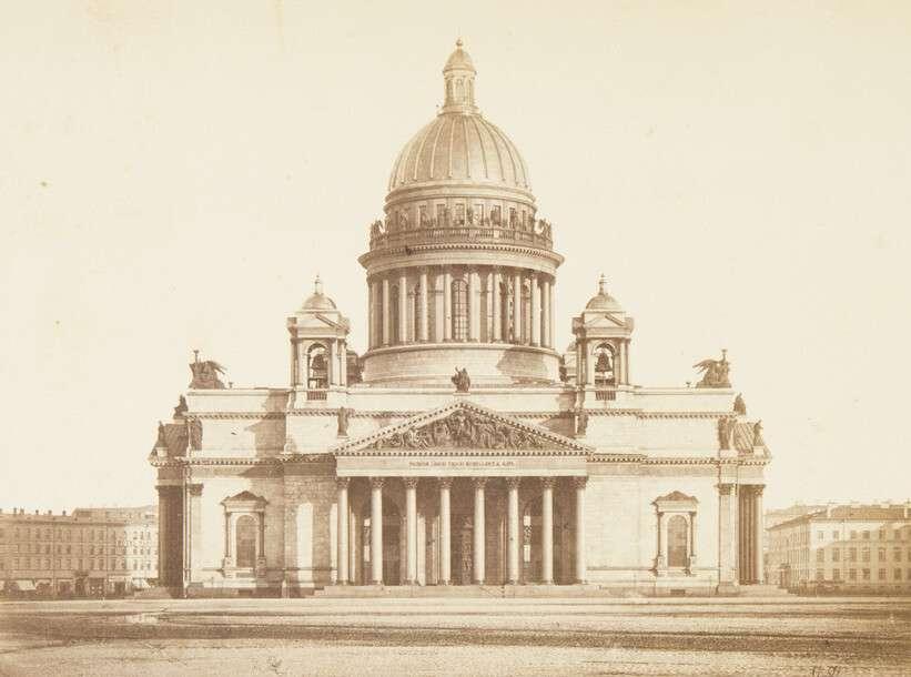 Альфред Лоренс.    Исаакиевский собор с северной стороны, 1870‑е