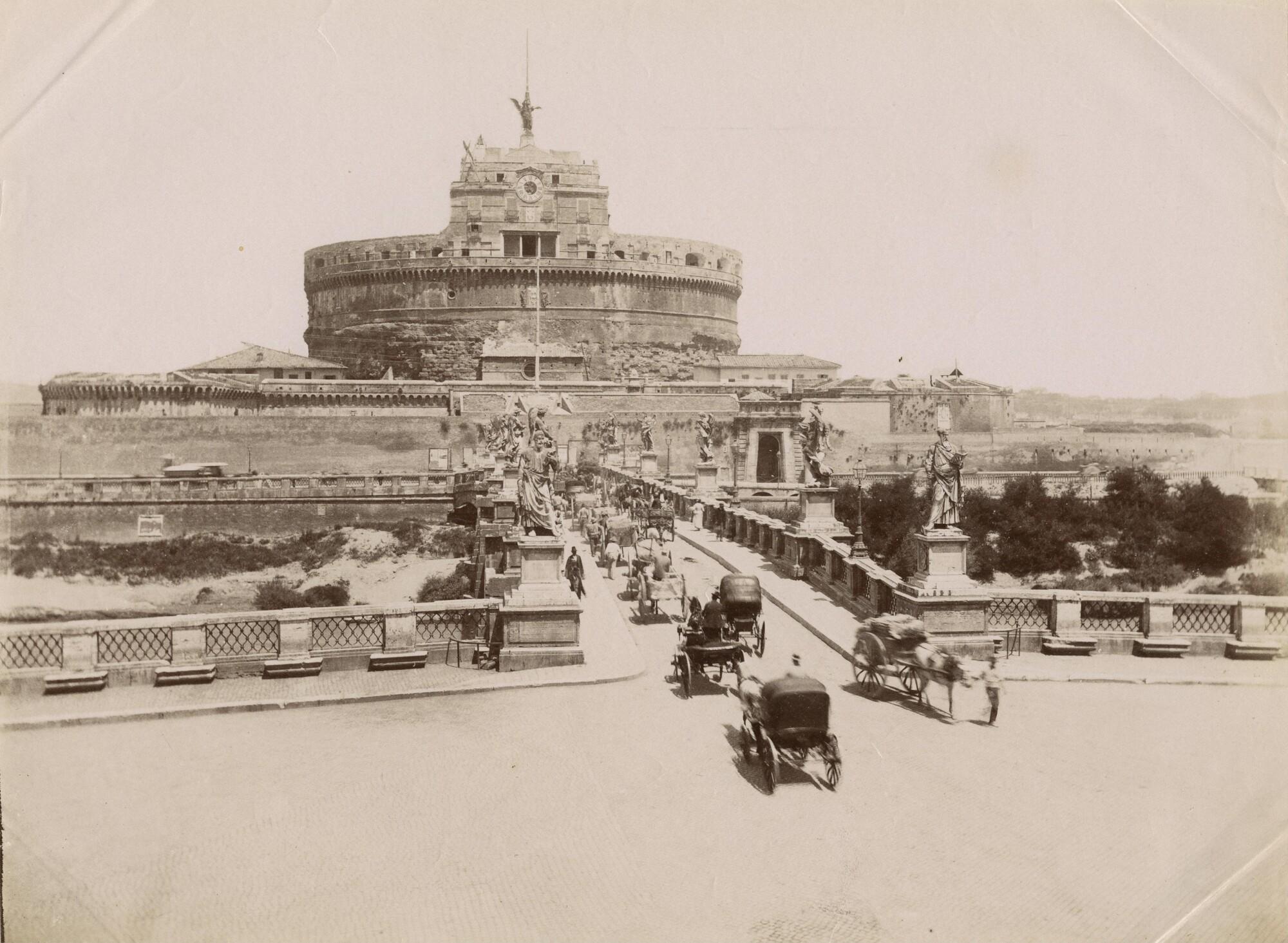 Неизвестный автор.  Замок Сант-Анджело, до 1894 Альбуминовый отпечаток
