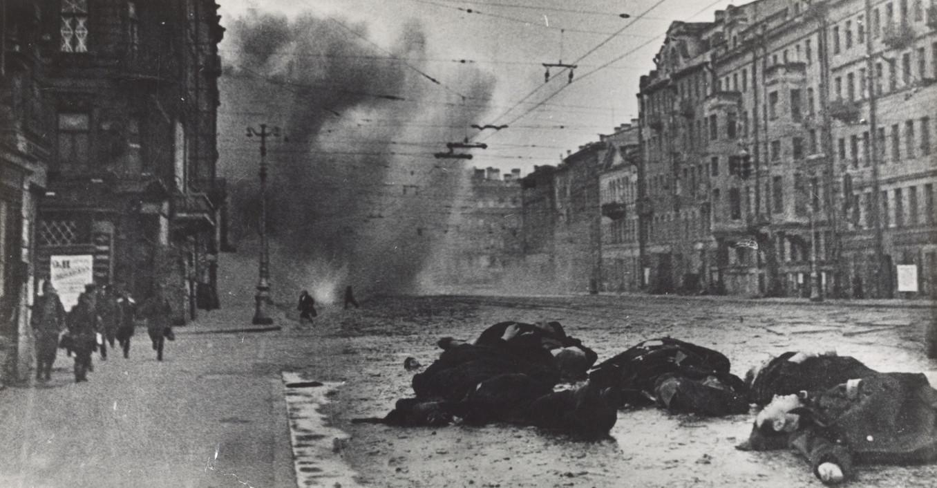 Б. П. Кудояров.    Обстрел Невского   Зима1942–1943