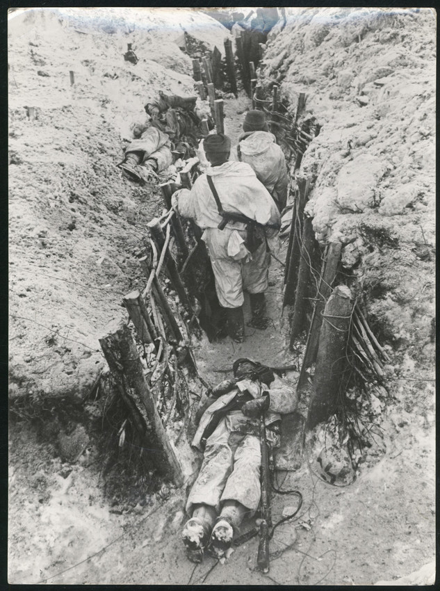 Б. П. Кудояров.    Бои за полное освобождение Ленинграда от блокады. 1-я линия обороны немцев   1944