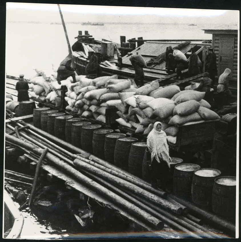 Б. П. Кудояров.    Ладога. Хлеб —Ленинграду   1942