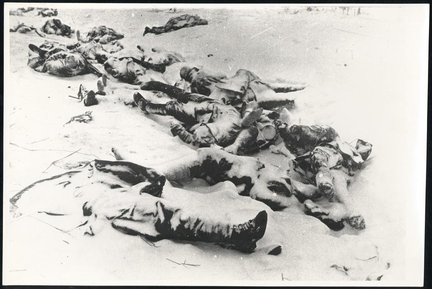 Б. П. Кудояров.    Немцы под Ленинградом   Февраль 1944
