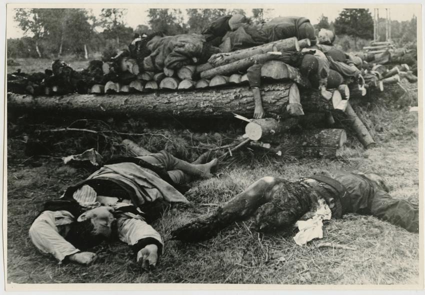 Б. П. Кудояров.    Район боевых действий на реке Ягала   1944