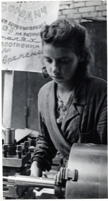 Б. П. Кудояров.    На заводе   1942