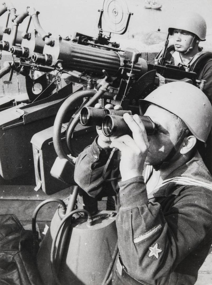 Е. А. Халдей.    Северный флот в походе   Заполярье, СССР, 1941