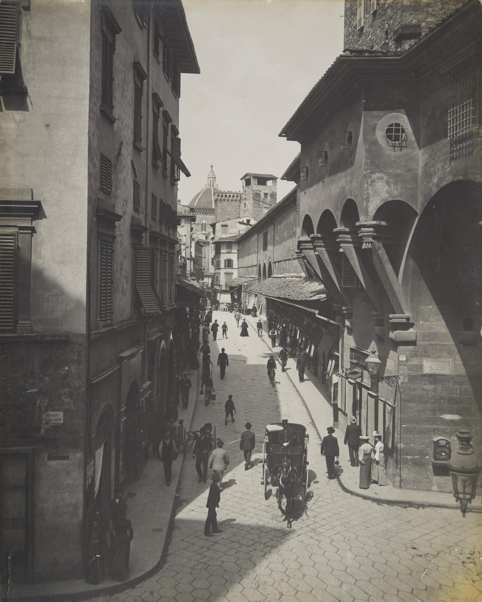 Фотоателье Броджи.    Понте Веккьо, 1880‑е   Желатиновый отпечаток