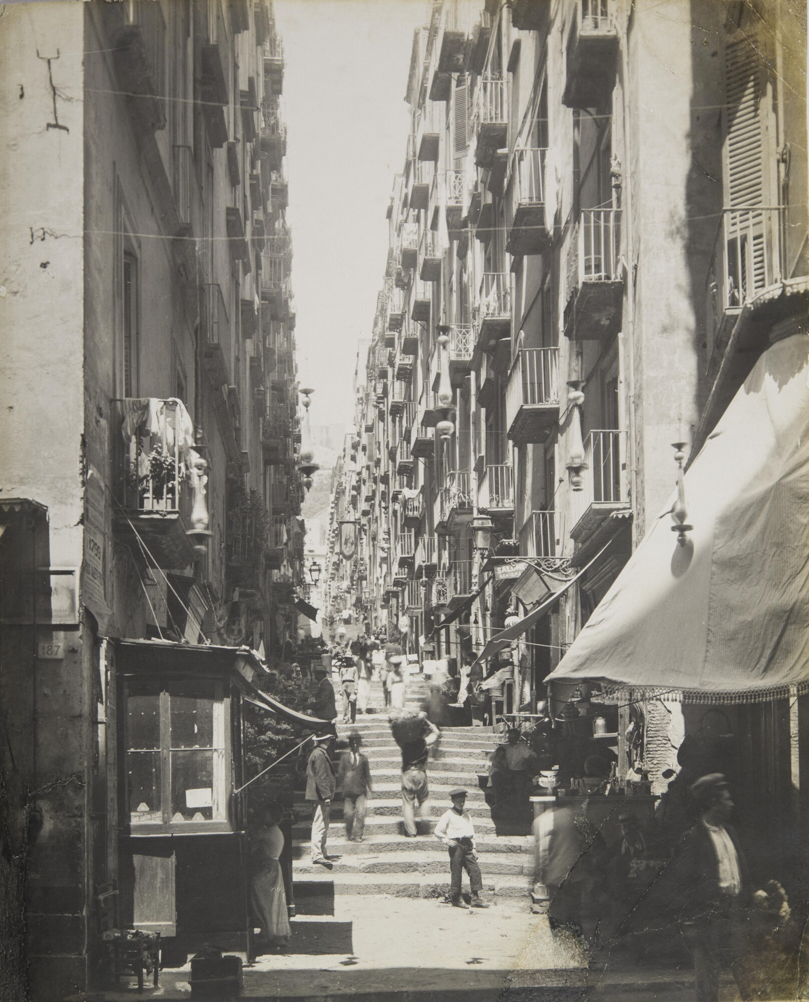 Неизвестный автор.    Городской пейзаж, 1880‑е   Желатиновый отпечаток