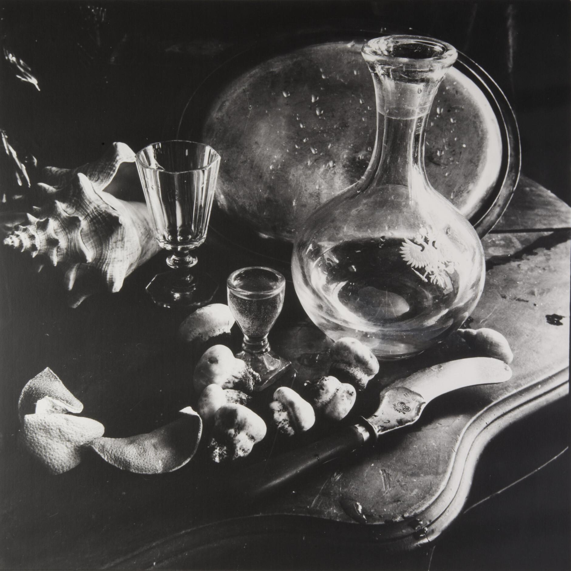 Борис Смелов.      Натюрморт с шампиньонами   Ленинград, 1973