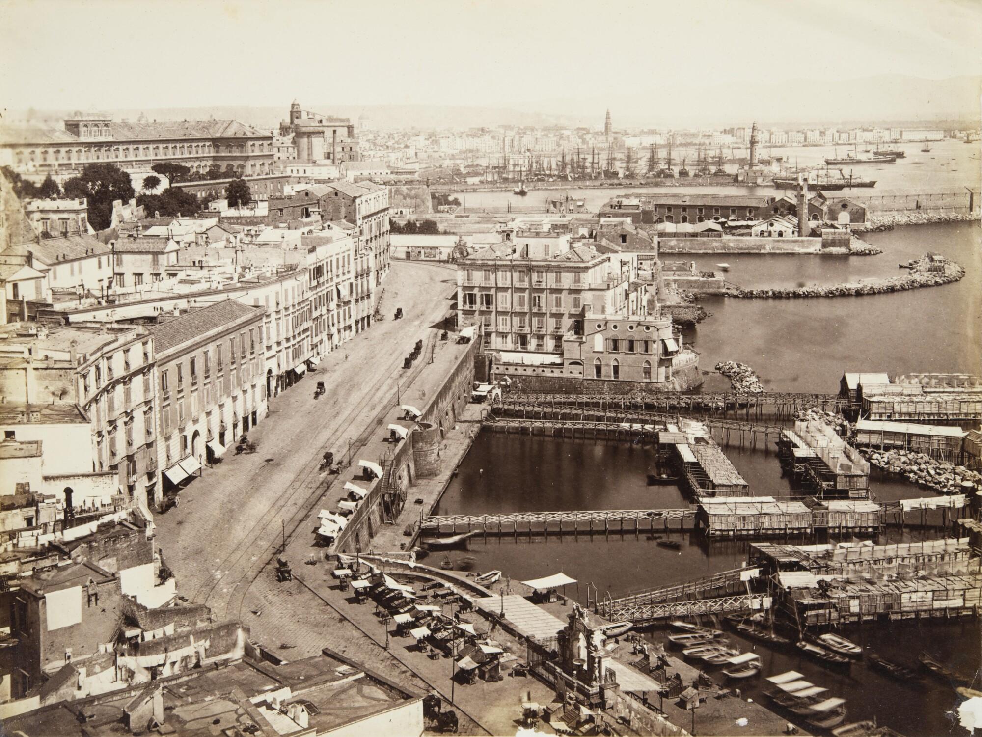 Джорджо Зоммер.    Набережная Санта Лючия, 1880‑е   Альбуминовый отпечаток