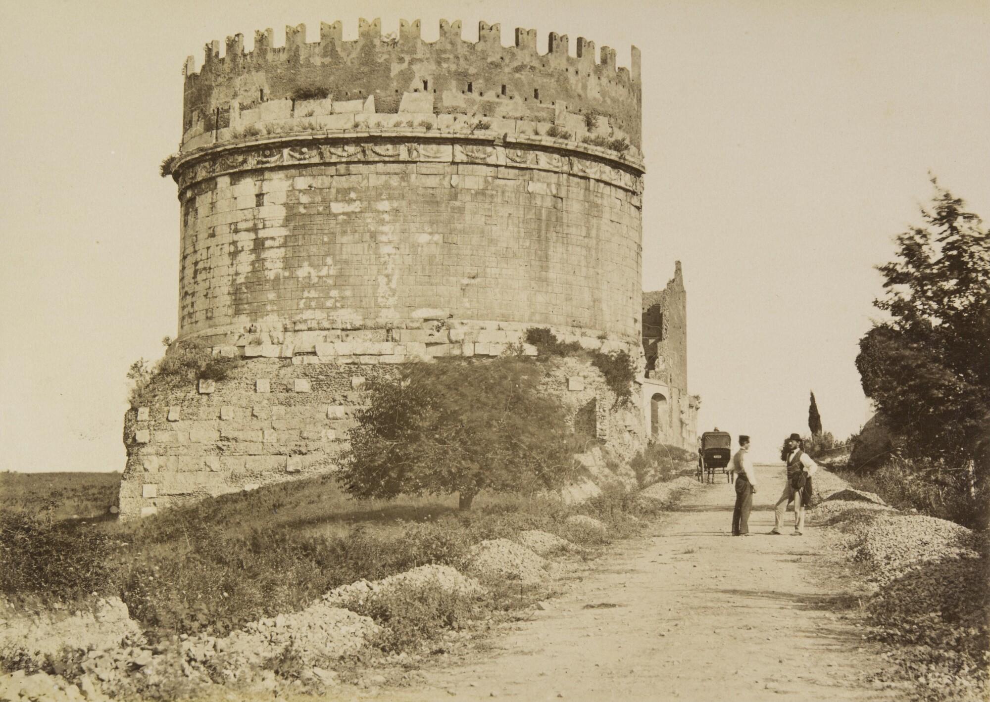 Альтобелли и Молинс.    Гробница Цецилии Метеллы, 1860-1870‑е   Альбуминовый отпечаток