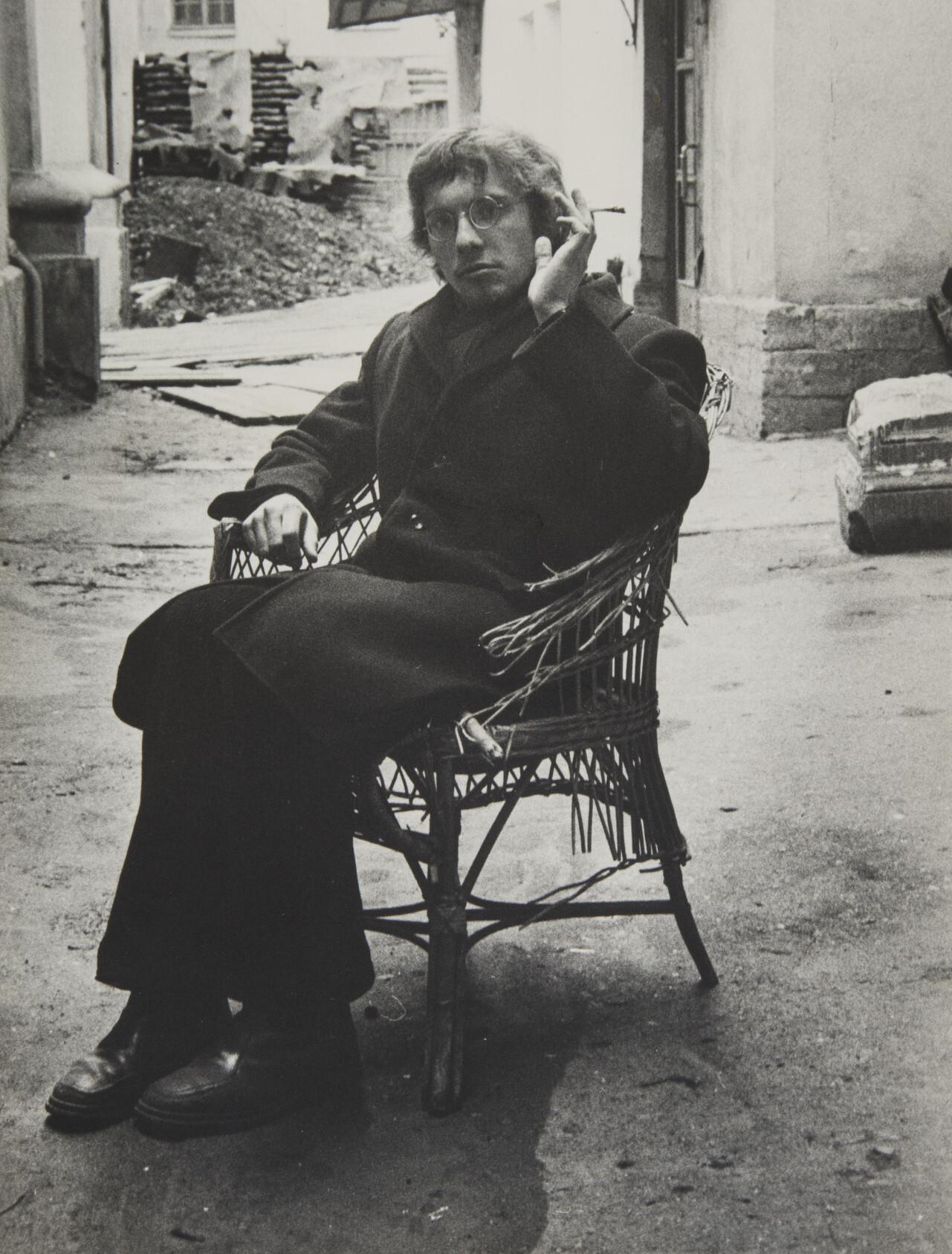 Борис Смелов.    Автопортрет   Ленинград, начало 1970-х
